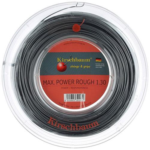 キルシュバウム マックスパワーラフ (1.20/1.25/1.30mm) 200Mロール 硬式テニスガット ポリエステル ガット(Kirschbaum Max Power Rough String 200M Reel)【2015年1月発売】