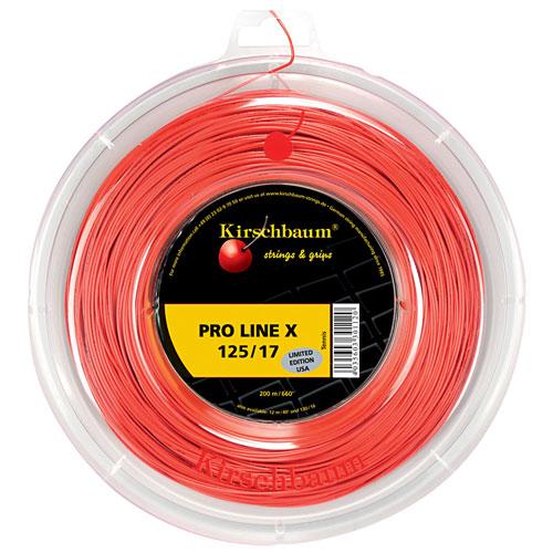 [秋のスペシャルクーポン発行中]キルシュバウム プロライン エックス (1.20/1.25/1.30mm) 200Mロール 硬式テニスガット ポリエステル ガット(Kirschbaum Pro Line X (red) 200m reel)【2015年1月登録】