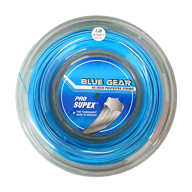 プロスペックス ブルーギア(1.19mm/1.25mm/1.28mm) 200mロール 硬式テニス ポリエステルガット(PRO SUPEX BLUE GEAR)【2016年12月登録】次回使えるクーポンプレゼント