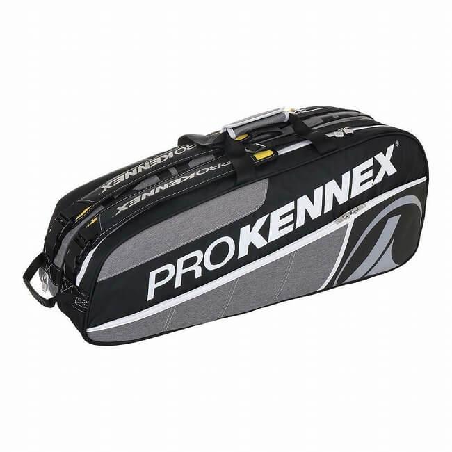 今なら次回使えるクーポンプレゼント】[6本収納]プロケネックス(ProKennex) Qギア ラケットバッグ グレ―xブラック AYBG1802(19y3m)