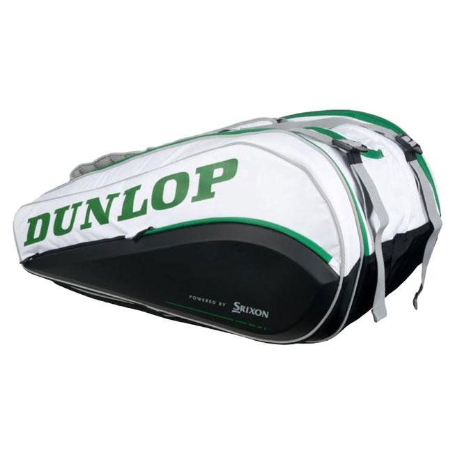 CXパフォーマンス テニスバッグ 10287975-ホワイト×グリーン(19y7m)[次回使えるクーポンプレゼント] 15R [ウインブルドンモデル][15本収納]ダンロップ(DUNLOP)