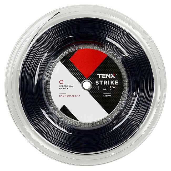 テンエックス プロ(TENX PRO) ストライクフューリー (Strike Fury) (1.23mm/1.28mm) 200Mロール ブラック 硬式テニス ポリエステルガット (19y11m)[次回使えるクーポンプレゼント]