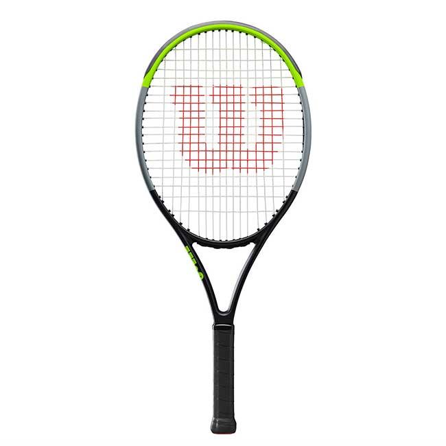 ウィルソン(Wilson) 2019 BLADE(ブレード)ジュニア25 V7.0(245g) 海外正規品 硬式ジュニアテニスラケット WR014410-ブラック×グリーン(19y10m)[NC][次回使えるクーポンプレゼント]