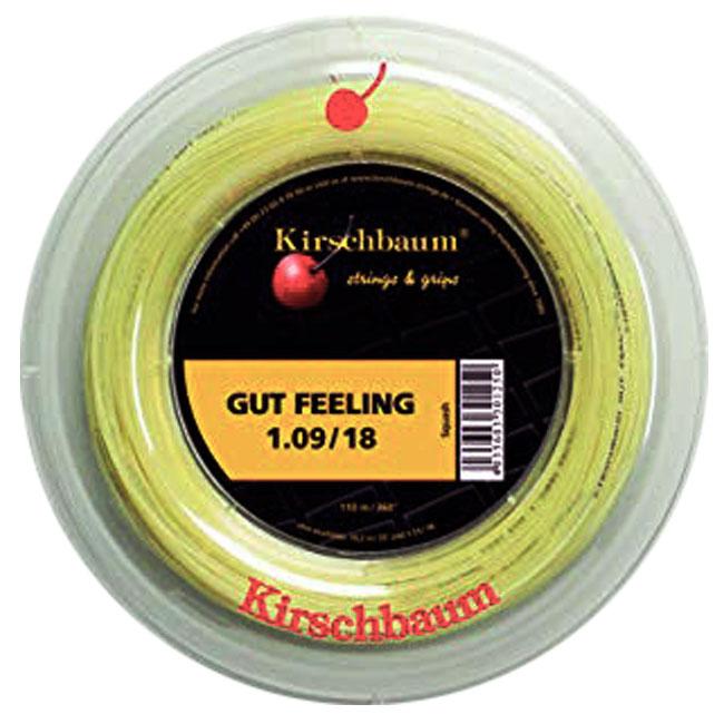 [スカッシュ用]キルシュバウム(Kirschbaum) ガットフィーリング 18(1.09mm) 110Mロール スカッシュ マルチフィラメントガット (19y11m)[次回使えるクーポンプレゼント]