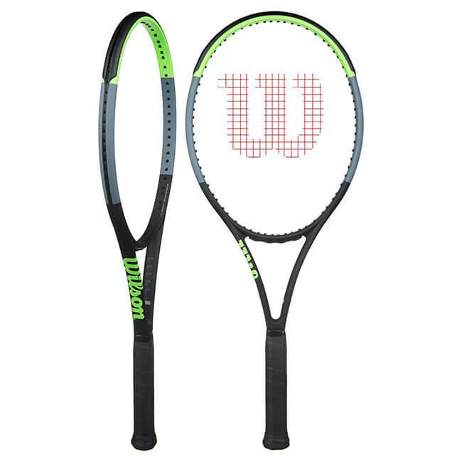 ウィルソン(Wilson) ブレード100L V7.0 (285g) 海外正規品 硬式テニスラケット WR014011-ブラック×グリーン×グレー(20y1m)[NC][次回使えるクーポンプレゼント]
