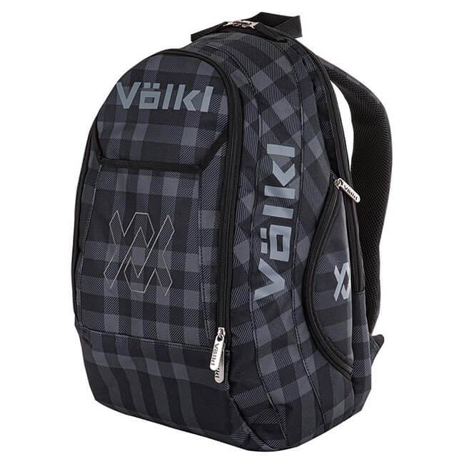 [ラケット収納可]フォルクル(Volkl) チーム バックパック プラッド(格子)柄 テニスバッグ V79303-ブラック×グレー(20y1m)[次回使えるクーポンプレゼント]