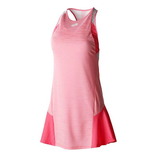 [USサイズ]ロット(LOTTO) 2020 SP レディース トップテン 配色切替ドレス 212837-5PBスイートローズ×ビビッドローズ(20y1mテニス)[次回使えるクーポンプレゼント]