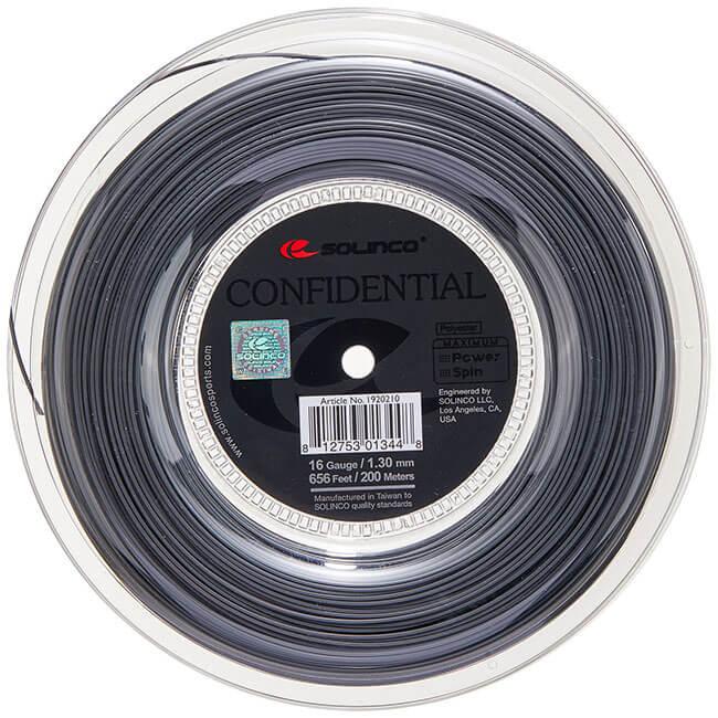 送料無料 即納 ソリンコ SOLINCO コンフィデンシャル 1.15 1.20 200Mロール 値下げ 1.30mm 20y2m 硬式テニスガット 店 ポリエステルガット-ダークシルバー 1.25 次回使えるクーポンプレゼント