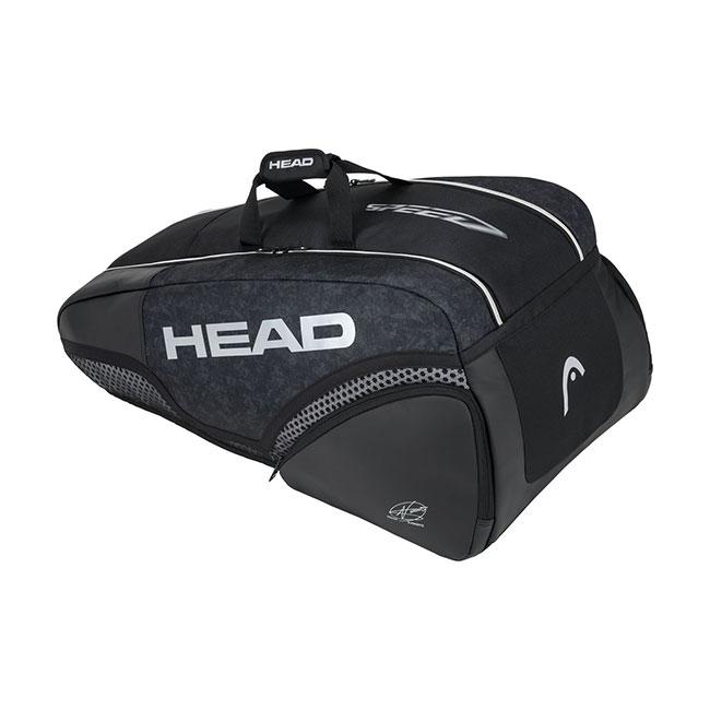 [ノバク・ジョコビッチ][9本収納]ヘッド(HEAD) 2020 ジョコビッチ 9R スーパーコンビ ラケットバッグ 283050-BKWH ブラック×ホワイト(20y3m)[次回使えるクーポンプレゼント]