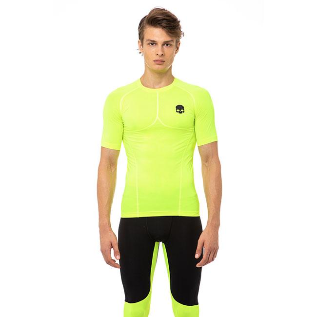 [海外サイズ]ハイドロゲン(HYDROGEN) 2020 メンズ セカンドスキン Tシャツ R00630-724 フルオイエロー(20y3mランニング)[次回使えるクーポンプレゼント]