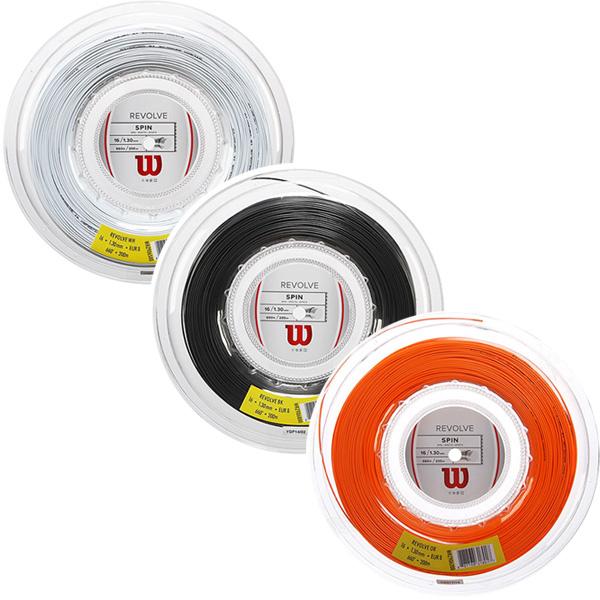 【国内未発売モデル】ウィルソン リボルブ(1.25mm/1.30mm)200Mロール 硬式テニスガット ポリエステル(Wilson Revolve 16(1.30mm)/17(1.25mm)String)(15y10m)[次回使えるクーポンプレゼント]