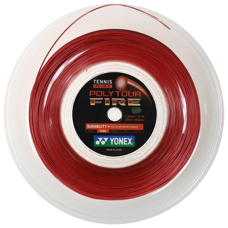 ヨネックス ポリツアー ファイア 200Mロール(1.20mm/1.25mm/1.30mm) 硬式テニスガット ポリエステルガット(YONEX POLY TOUR FIRE 200M Reel)【2015年12月登録】次回使えるクーポンプレゼント