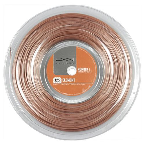 今なら次回使えるクーポンプレゼント】ルキシロン エレメント(1.25mm/1.30mm) 200Mロール 硬式テニス ポリエステル ガット(Luxilon Element 200m String Reel)WRZ990106【2015年11月発売】