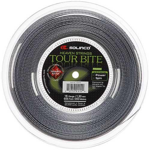 ソリンコ(Solinco) ツアーバイト ダイアモンド ラフ(1.20/1.25/1.30mm) 200Mロール 硬式テニス ポリエステル ガット Tour Bite DIAMOND ROUGH次回使えるクーポンプレゼント