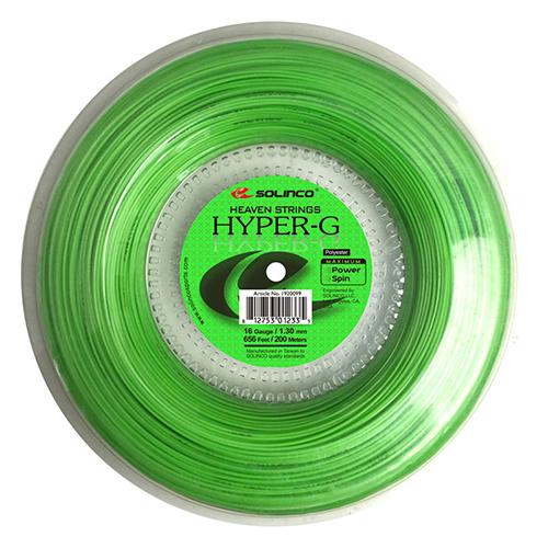 ソリンコ ハイパーG(1.05/1.10/1.15/1.20/1.25/1.30mm) 200Mロール 硬式テニス ポリエステル ガット(Solinco HYPER G 200m roll strings)(15y11m)[次回使えるクーポンプレゼント]