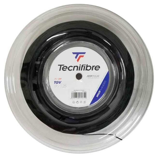 テクニファイバー(Tecnifibre) TGV Black (1.25mm/1.30mm/1.35mm/1.40mm)200Mロール 硬式テニス マルチフィラメントガット (20y5m)[次回使えるクーポンプレゼント]