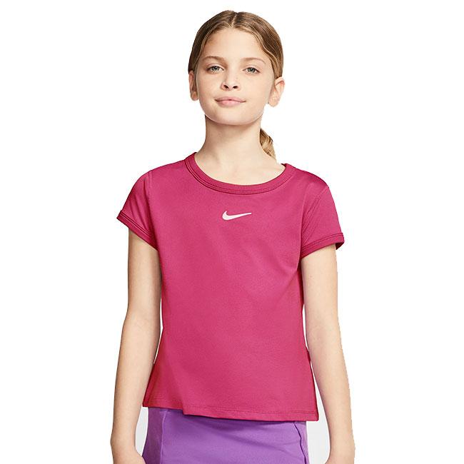 超特価SALE開催 メール便可 即納 ジュニアウェア ナイキ NIKE 2020 FA ジュニア CQ5386-616 DRI-FIT ビビッドピンク×ホワイト 半袖Tシャツ ガールズ お見舞い 20y8mテニス 次回使えるクーポンプレゼント