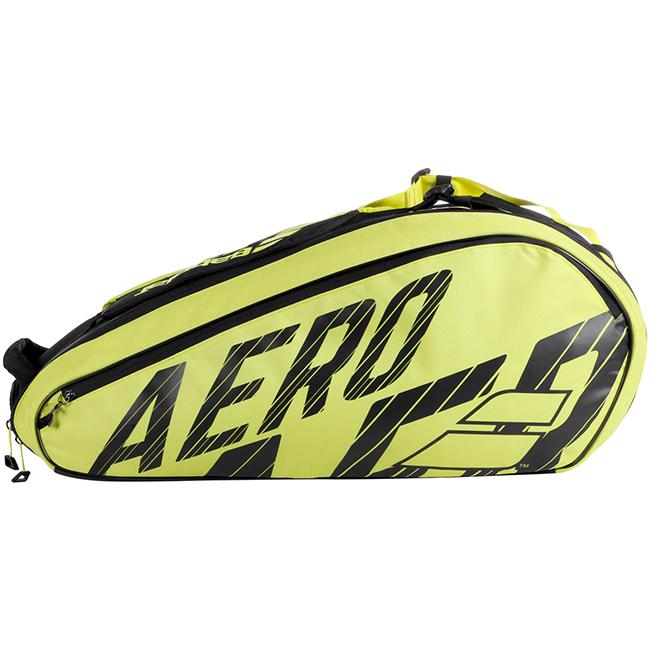 送料無料 即納 6本収納 バボラ Babolat 2020 PURE AERO WEB限定 ラケットバッグ ブラック×イエロー 20y10m 次回使えるクーポンプレゼント 賜物 751212-142 6R テニスバッグ ピュアアエロ