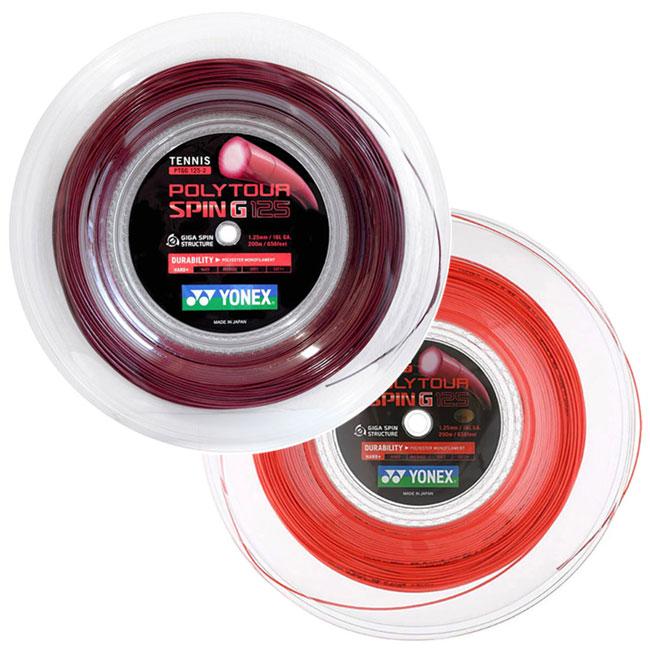 送料無料 即納 ヨネックス ロール 日本メーカー新品 ポリツアースピンG 125mm 200Mロール 硬式テニス Poly G Yonex 次回使えるクーポンプレゼント ポリエステル PTGG125-2 営業 ガット TourSpin