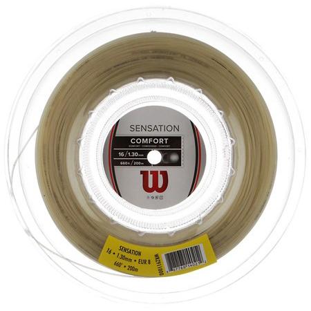 [秋のスペシャルクーポン発行中]ウィルソン センセーション 17(1.25mm)16(1.30mm)15(1.35mm) 200Mロール 硬式テニスガット マルチフィラメントガット (Wilson Sensation)