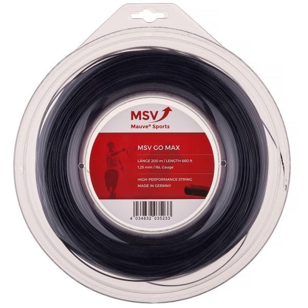 MSV ゴーマックス (1.20/1.25mm) 200Mロール 硬式テニスガット ポリエステルガット (MSV GO MAX strings)(16y4m)[次回使えるクーポンプレゼント]