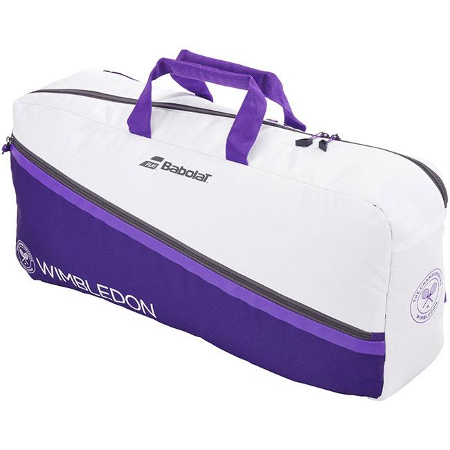 舗 即納 ラケット収納可 バボラ Babolat 2021 WIMBLEDON ウインブルドン テニスバッグ 次回使えるクーポンプレゼント 21y5m ホワイト×パープル M ストアー 758004-167 ダッフルバッグ