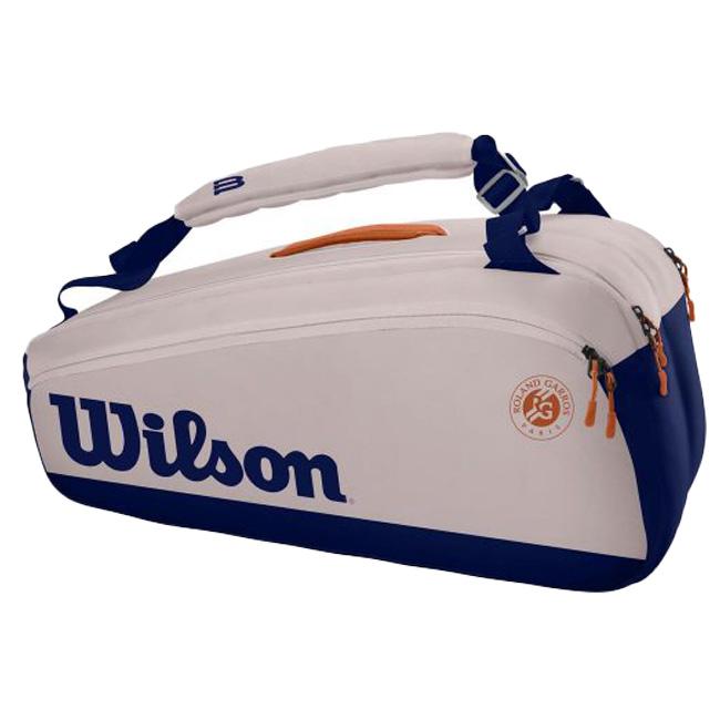 送料無料 即納 送料無料(一部地域を除く) 9本収納 ウィルソン Wilson 2021 ローランギャロス SUPER 豪華な テニスバッグ TOUR 21y6m ラケットバッグ スーパーツアー 次回使えるクーポンプレゼント 9PK WR8012601001-オイスター×ネイビー