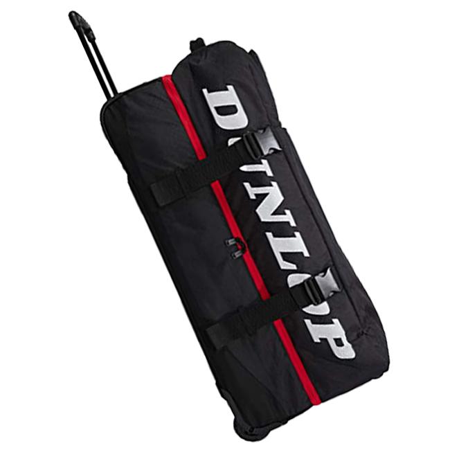 即納 4年保証 在庫処分特価 ラケット収納可 ダンロップ DUNLOP 21y7m トローリーバッグ 年中無休 キャスターバッグ 次回使えるクーポンプレゼント DPC-2983-ブラック×レッド