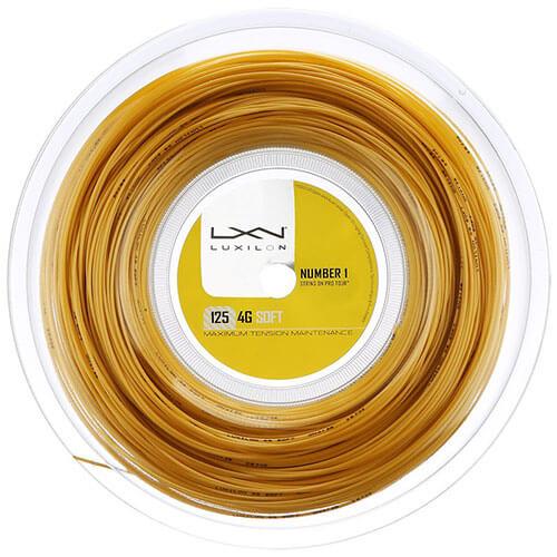 ルキシロン 4G ソフト(1.25mm) 200Mロール WRZ990143硬式テニス ポリエステル ガット(Luxilon 4G Soft 200m String Reel)【2016年7月登録】[次回使えるクーポンプレゼント]