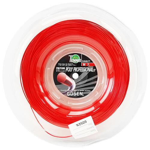 ゴーセン ポリプロフェッショナル17 レッド【日本名:ジャックコントロール17】(1.24mm) 200mロール 硬式テニスガット ポリエステルガット(GOSEN)