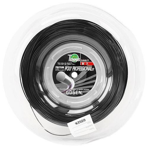 ゴーセン ポリプロフェッショナル16 ブラック【日本名:ジャックコントロール16】(1.29mm) 200mロール 硬式テニスガット ポリエステルガット(GOSEN)次回使えるクーポンプレゼント