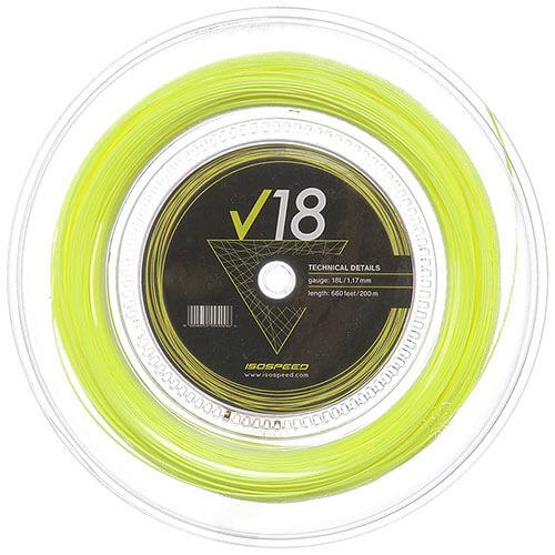 イソスピード タッチポリ V18 (1.12mm/1.17mm) 200mロール 硬式テニスガット ポリエステル(ISOSPEED Touch Poly V18)【2016年12月登録】