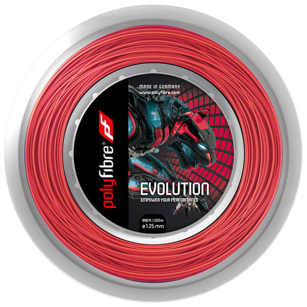 ポリファイバー(Polyfibre) エボリューション (Evolution)(1.20/1.25/1.30mm) 200Mロール 硬式テニス ポリエステル ガット【2017年7月登録】
