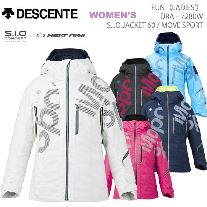 スキーウェア レディースジャケット/DESCENTE デサント FUN LADIES' JACKET/MOVE SPORT DRA-7280W(2018)
