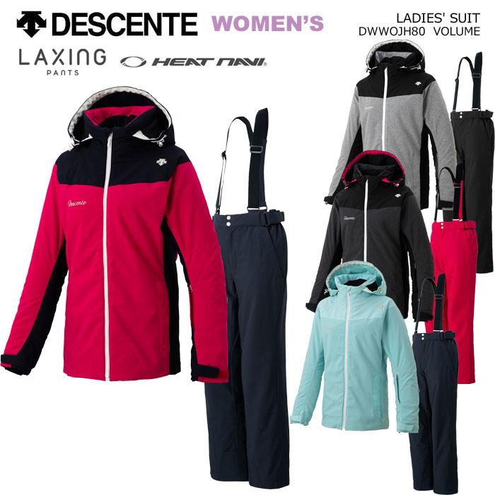 送料無料 激安 お買い得 キ゛フト DESCENTE SKI WEAR LADIES' SUIT 大規模セール LAXING PANTS 2020 上下セット 19-20 レディーススキーウェア デサント DWWOJH80