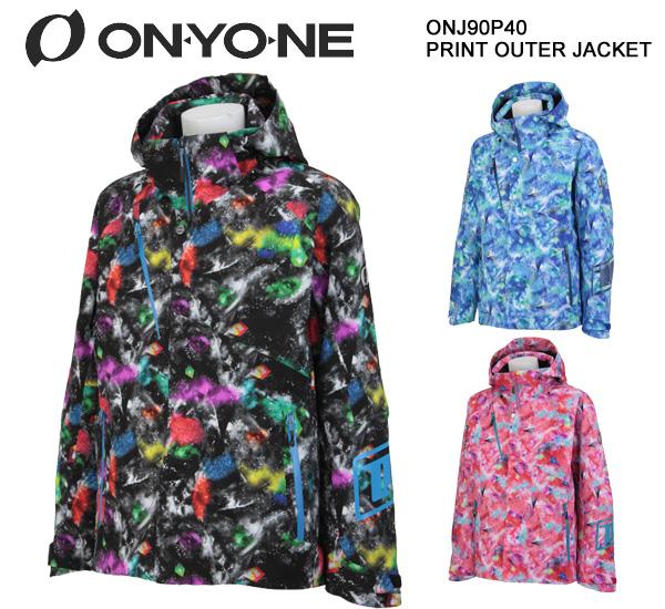 スキーウェア ジャケット/ONYONE オンヨネ PRINT OUTER JACKET ONJ90P40(2018)