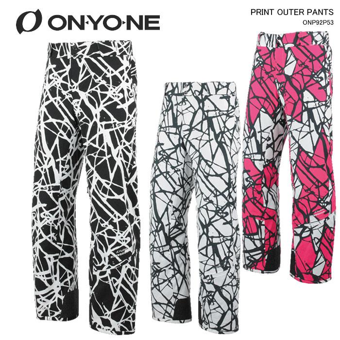 ONYONE/オンヨネ スキーウェア パンツ PRINT OUTER PANTS/ONP92P53(2020)19-20