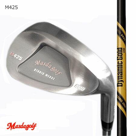 Masudagolf マスダゴルフ スタジオウエッジ M425(ノーメッキ・クロムメッキ)/ダイナミックゴールドツアーイシュー・オニキスブラック【カスタム・ゴルフクラブ】