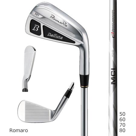 Romaroロマロ Ballista 501アイアン/Fujikuraフジクラ MCI 50・60・70・80 Iron#5-9・PW 6本セット