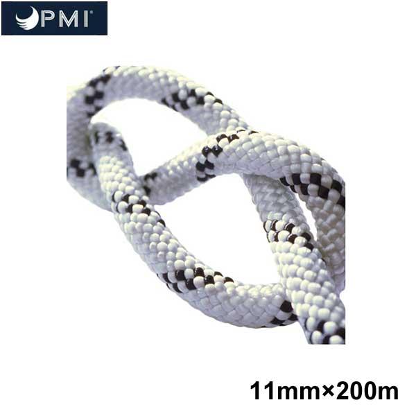 PMI(ピーエムアイ) スタティックロープ クラシック・プロフェッショナル 11mm×200m ホワイト×ブラック