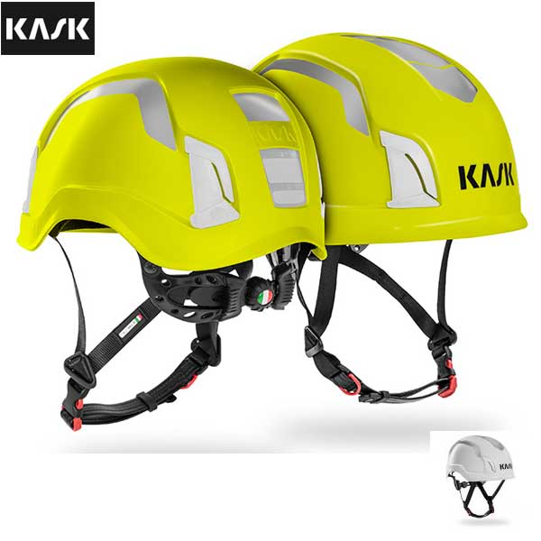 カスク(KASK)(イタリア) 高視認性 絶縁ヘルメット 「ゼニス ハイヴィズ」 Zenith Hi-viz 【KK0101】 | チェンソー レスキュー 建設 作業 林業 ツリーケア アーボリスト