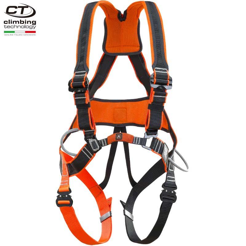 クライミングテクノロジー(climbing technology)(イタリア) フォールアレスト用ハーネス 「ワークテック QR クイックリリースバックル仕様」 WORK TEC QR 腰ベルトはメッシュ構造 ショルダーストラップはズレにくい