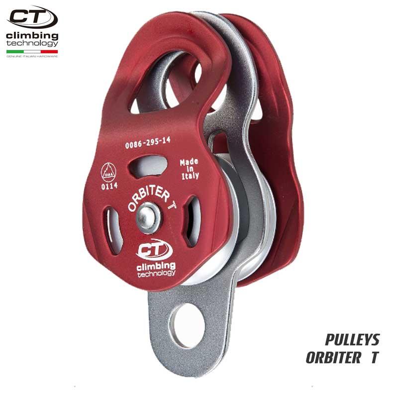 クライミングテクノロジー(climbing technology)(イタリア) ダブルプーリー 「オービター T」 ORBITER T 【2P662】 | ツリークライミング ロープ登高 レスキュー 下降
