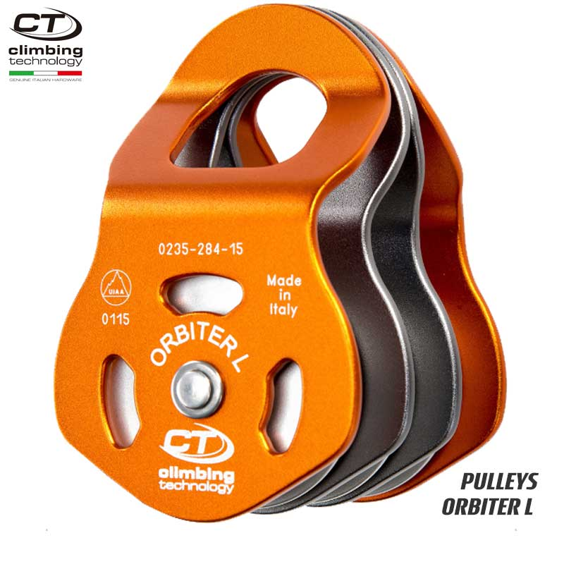 クライミングテクノロジー(climbing technology)(イタリア) トリプルプーリー 「オービター L」 ORBITER L 【2P666】 | ツリークライミング ロープ登高 レスキュー 下降