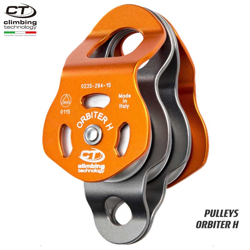 クライミングテクノロジー(climbing technology)(イタリア) トリプルプーリー 「オービター H」 ORBITER H 【2P667】 | ツリークライミング ロープ登高 レスキュー 下降