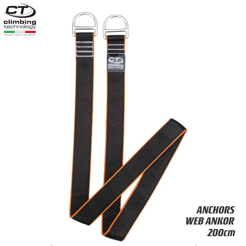 クライミングテクノロジー(climbing technology)(イタリア) アンカーストラップ 「ウェブアンカー 200cm」 WEB ANKOR 【7W131200】 | ツリークライミング ロープ登高 レスキュー 下降