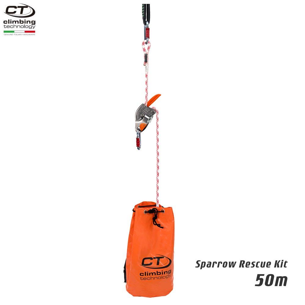 Climbing Technology(クライミングテクノロジー) レスキュートライポッド スパロー レスキューキット (Sparrow Rescue Kit) 50m 【2K646050】