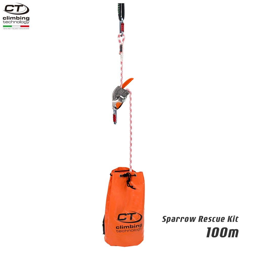 Climbing Technology(クライミングテクノロジー) レスキュートライポッド スパロー レスキューキット (Sparrow Rescue Kit) 100m 【2K646100】