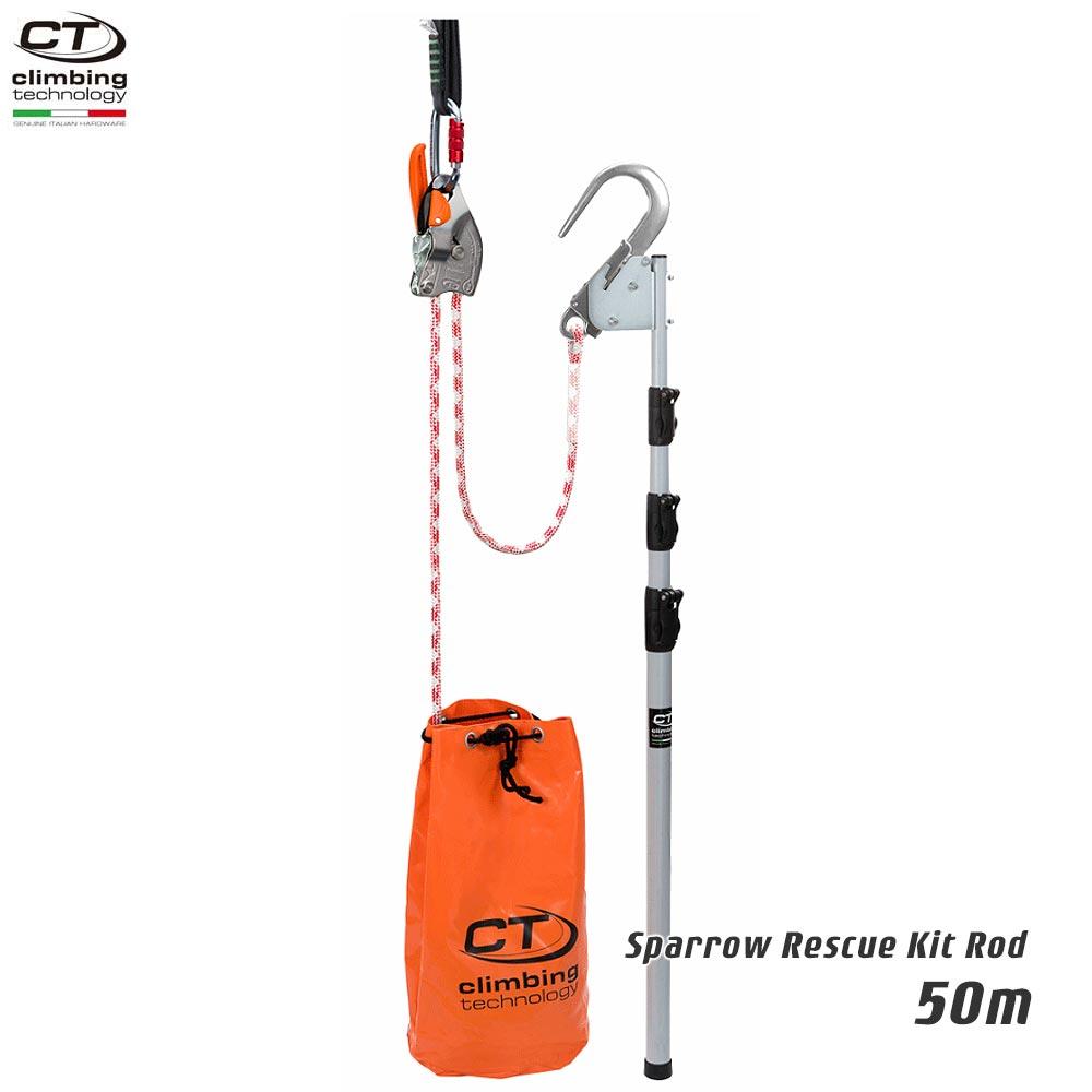 Climbing Technology(クライミングテクノロジー) レスキュートライポッド スパロー レスキューキットロッド (Sparrow Rescue Kit Rod ) 50m 【2K113050】