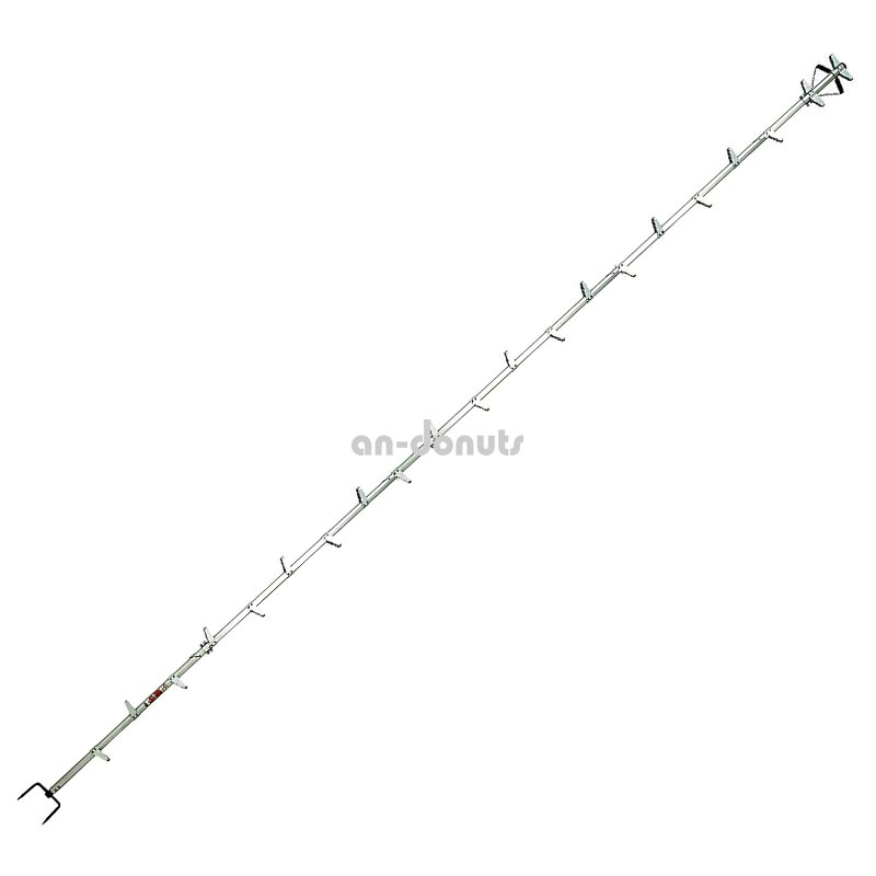 巴化成工業 【6m】ロッキーラダー1/A-6 (2m×3) 木登り用1本はしご【YDKG-tk】